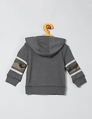 GAP Baby Grey Zip Up Hooded Sweatshirt