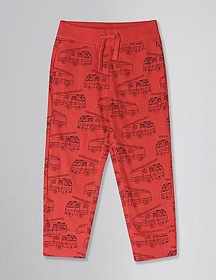 GAP Red Toddler Boy Print Pull-On Pants