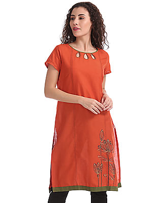 Karigari Embroidered Cotton Kurta