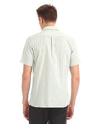 Arrow Short Sleeve Vertical Stripe Shirt