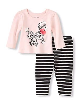 The Children's Place Baby Long Sleeve Poodle Set
