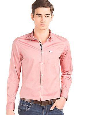 Arrow Sports Solid Slim Fit Shirt