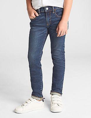 GAP Toddler Boy Blue Super Denim FantastiFlex Skinny Fit Jeans