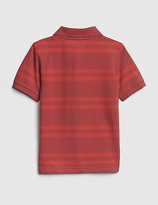GAP Toddler Boy Stripe Polo Short Sleeve Shirt