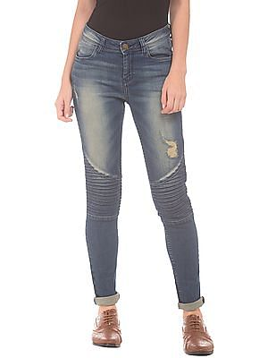 EdHardy Women Panelled Skinny Fit Jeans