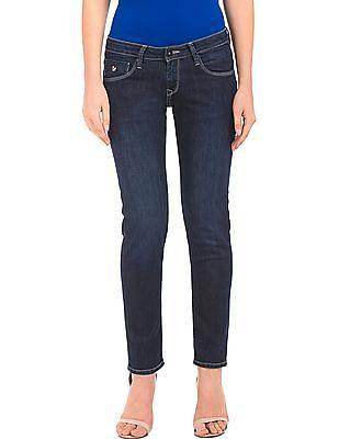 U.S. Polo Assn. Women Dark Wash Skinny Fit Jeans