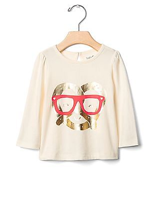GAP Baby White Apple Thoughts Nepped Tee