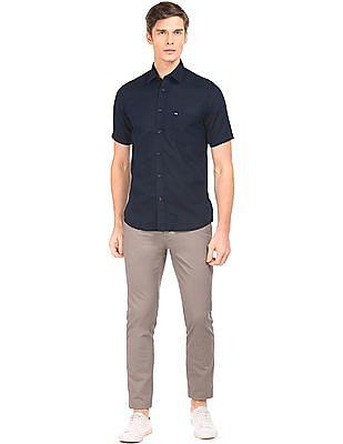 Arrow Sports Regular Fit Cotton Linen Shirt