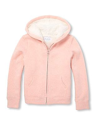 The Children's Place Girls Hooded Solid Sweatshirt