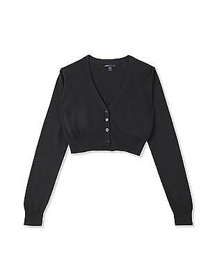 GAP Girls Cropped Cardigan