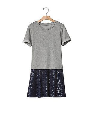 GAP Girls Layer Sequin Dress