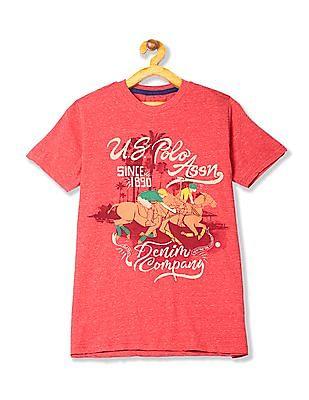 U.S. Polo Assn. Kids Boys Brand Graphic Cotton T-Shirt