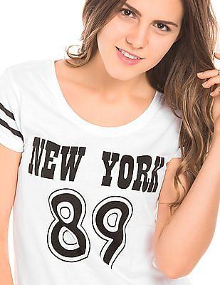 SUGR Numeric Print Regular Fit T-Shirt
