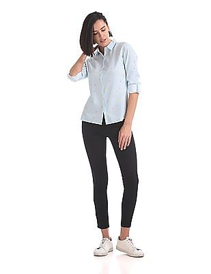 Flying Machine Women Regular Fit Stripe Shirt