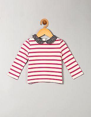 GAP Baby Contrast Collar Stripe Tee