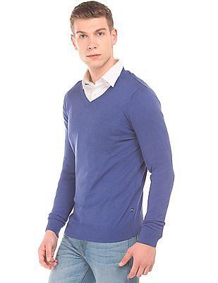 Nautica V-Neck Cotton Modal Sweater