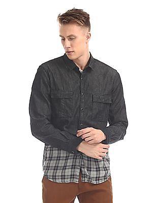 Colt Panelled Longline Shirt