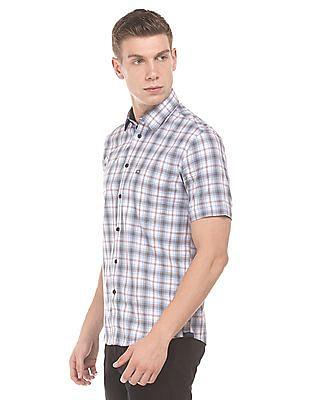 Arrow Sports Short Sleeve Check Shirt