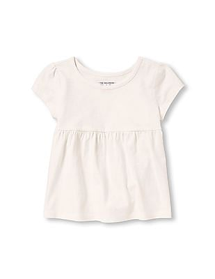 b7594cf32295 The Children's Place Toddler Girl Short Cap Sleeve Solid Empire Top