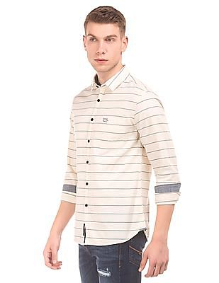 U.S. Polo Assn. Denim Co. Striped Slim Fit Shirt