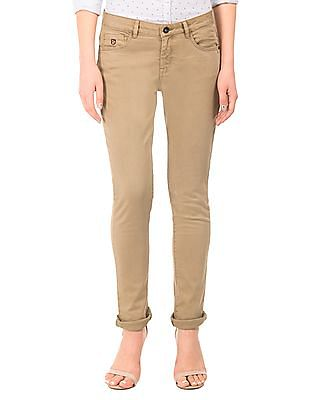 U.S. Polo Assn. Women Solid Skinny Fit Trousers