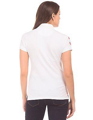 U.S. Polo Assn. Women Regular Fit Cotton Lycra Polo Shirt
