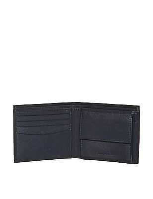 Arrow Sports Black Perforated Leather Wallet