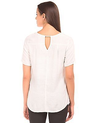 Arrow Woman Striped Short Sleeved Top