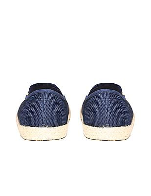 Flying Machine Perforated Upper Slip On Shoes