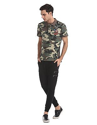 Ed Hardy Slim Fit Panelled Joggers