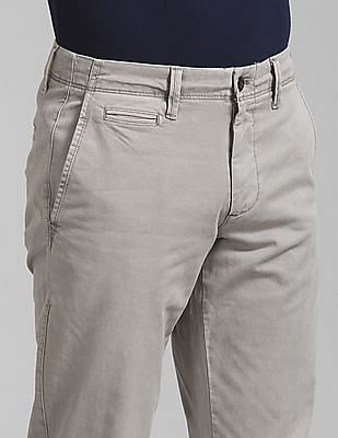GAP Washwell Vintage Wash Khakis In Slim Fit With Gapflex