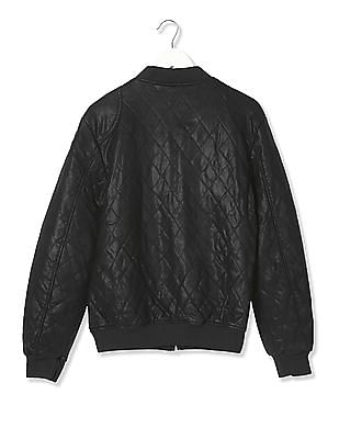 Ed Hardy Long Sleeve Quilted Bomber Jacket