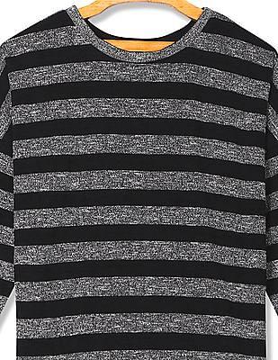 Cherokee Round Neck Stripe Sweater