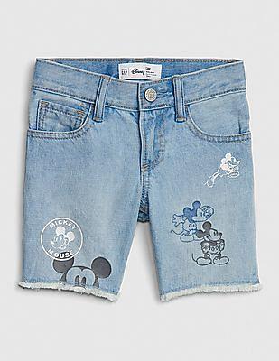 GAP Toddler Boy Disney Mickey Mouse Denim Shorts