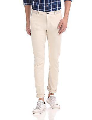 Arrow Sports Slim Fit Autoflex Waist Trousers