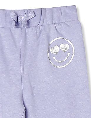 The Children's Place Baby And Toddler Girl Active Foil Graphic Knit Jogger Pants