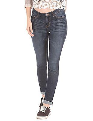 Elle Skinny Fit Embellished Jeans
