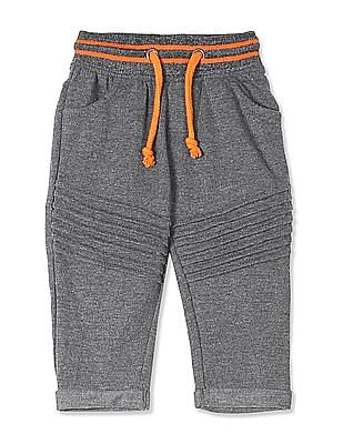 Donuts Grey Boys Striped Waist Tucked Front Track Pants