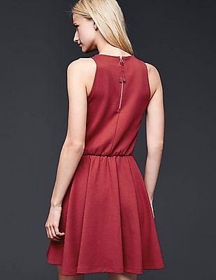 GAP Women Red Sleeveless Fit & Flare Dress