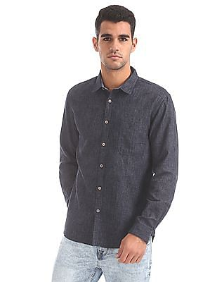 Cherokee Contemporary Fit Patterned Shirt