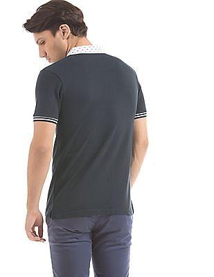 Ruggers Regular Fit Printed Collar Polo Shirt