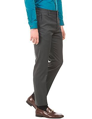 Arrow Solid Tapered Formal Trousers