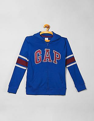 GAP Boys Zip Up Hooded Sweatshirt
