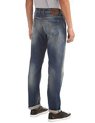 Flying Machine Slim Straight Fit Stone Wash Jeans