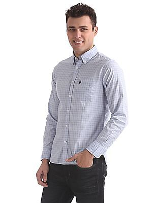 U.S. Polo Assn. Button-Down Collar Patterned Check Shirt