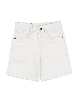 FM Boys Boys Solid Denim Shorts