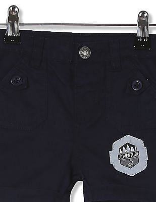 Donuts Boys Drawstring Waist Solid Shorts