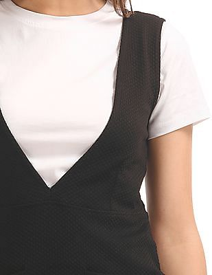 SUGR Patterned Sheath Dress With T-Shirt