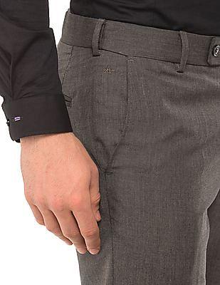 Arrow Textured Regular Fit Trousers