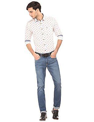 U.S. Polo Assn. Denim Co. Slim Fit Horse Print Shirt